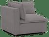 haine corner chair taylor felt grey