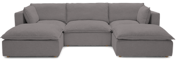 haine modular chaise sectional taylor felt grey