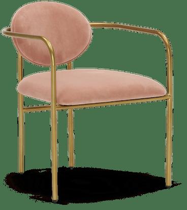 soleil dining chair royale blush