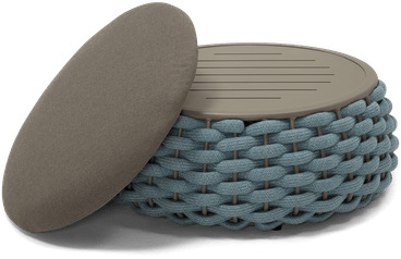 SFM del mar outdoor pouf seafoam