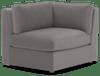 daya corner chair taylor felt grey