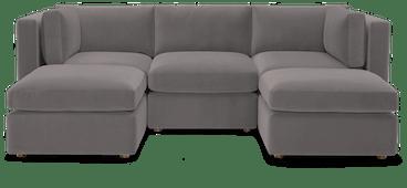 daya modular sofa sectional %285 piece%29 taylor felt grey