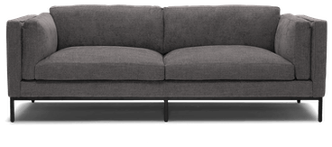 parker sofa with metal base taylor felt grey
