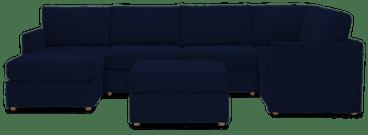 notch modular sofa sectional %287 piece%29 royale cobalt