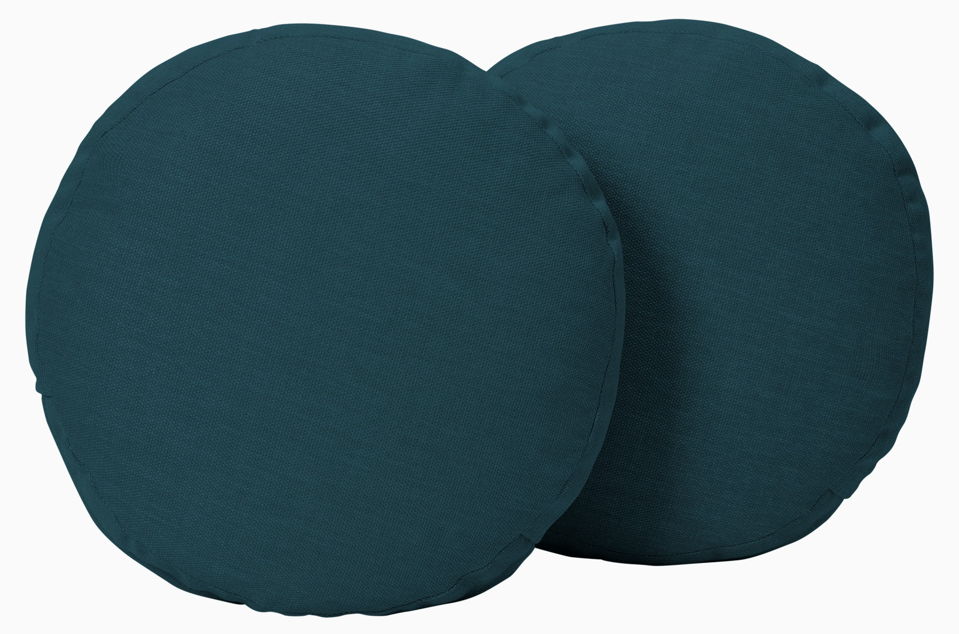 decorative round pillows %28set 2%29 sunbrella premier lagoon