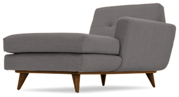hughes single arm chaise taylor felt grey