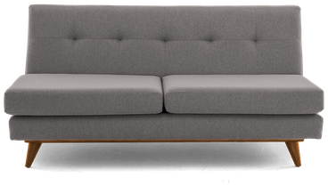 hughes armless loveseat taylor felt grey