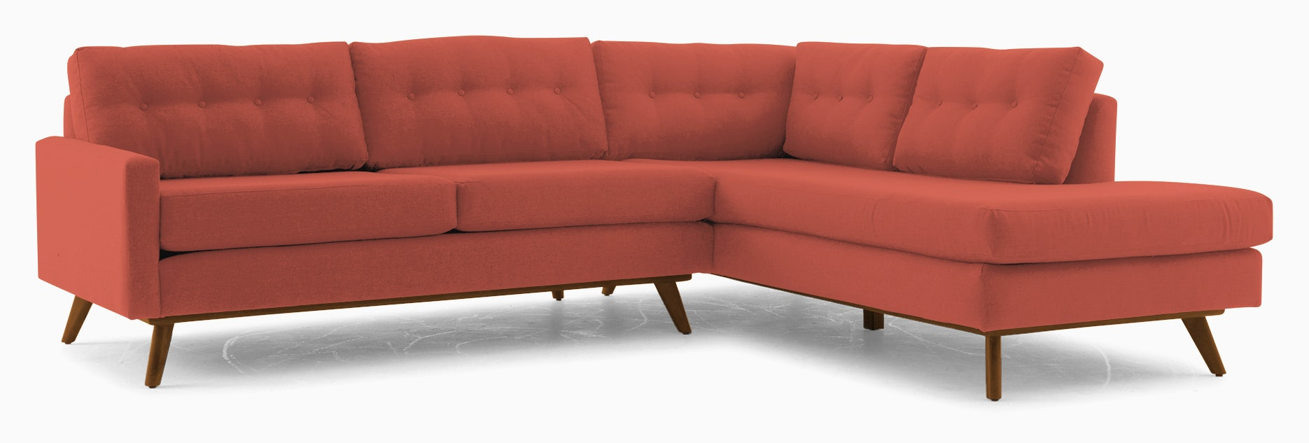 hopson sectional with bumper %282 piece%29 cordova picante