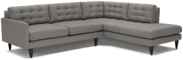 eliot sectional with bumper %282 piece%29 taylor felt grey