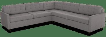 eliot corner sectional sleeper %283 piece%29 taylor felt grey