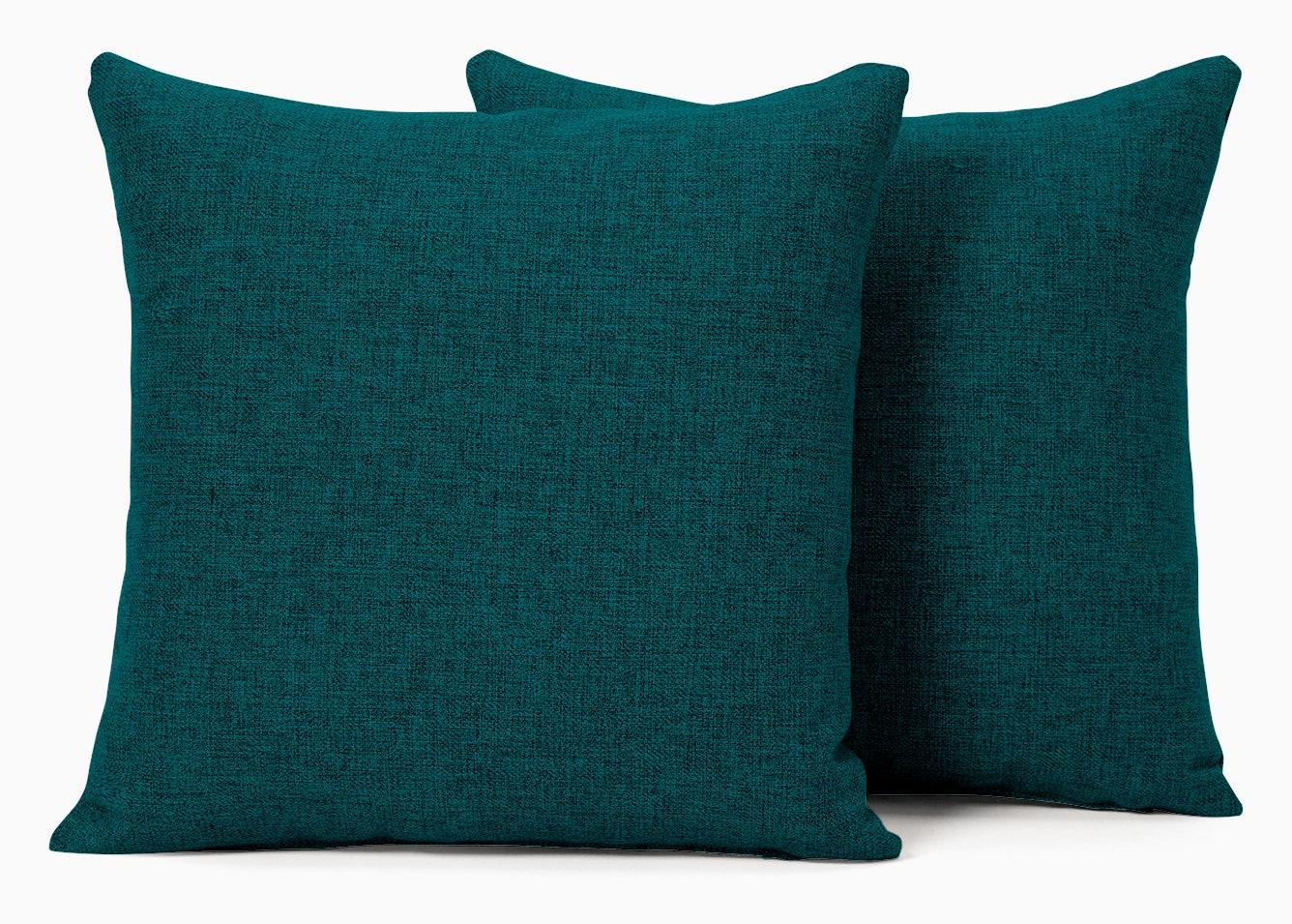 decorative knife edge pillows %28set 2%29 lucky turquoise