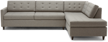 eliot bumper sleeper sectional taylor felt grey