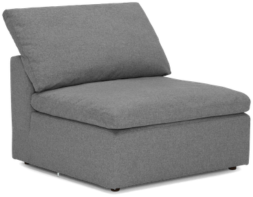 bryant armless chair taylor felt grey
