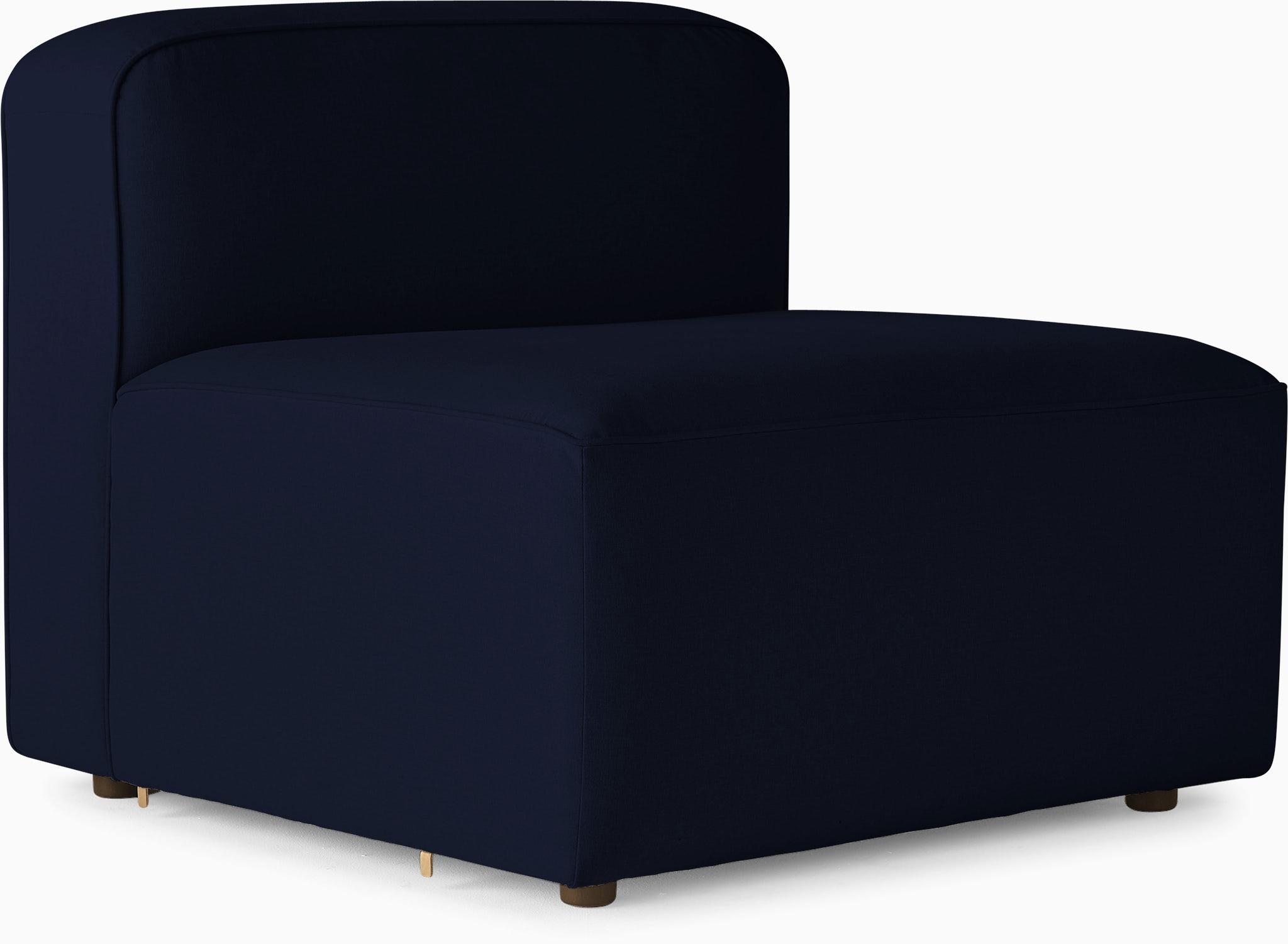 logan armless chair bentley indigo