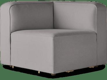 logan corner chair taylor felt grey