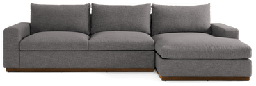 holt sectional with storage taylor felt grey
