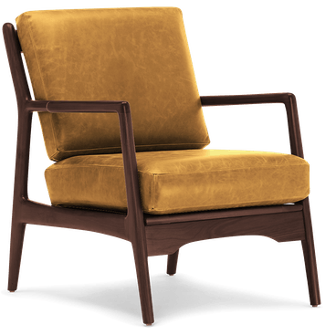 collins leather chair colonade sycamore