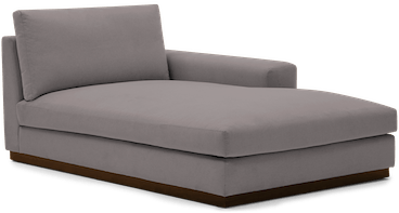 holt single arm chaise taylor felt grey