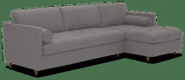 briar sleeper storage sectional taylor felt grey