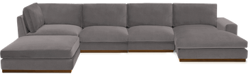 holt grand sectional taylor felt grey