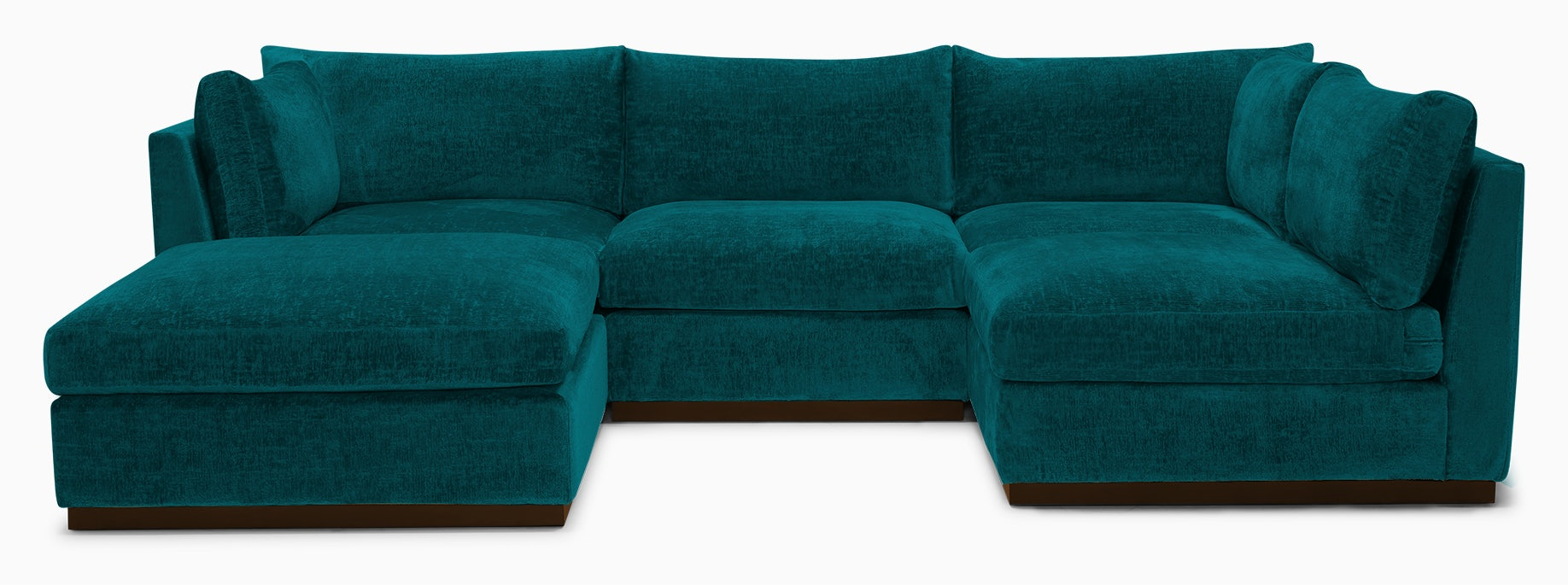 holt armless sofa sectional %285 piece%29 lucky turquoise