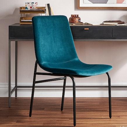 Rea Dining Armless Chair Royale Peacock pdp