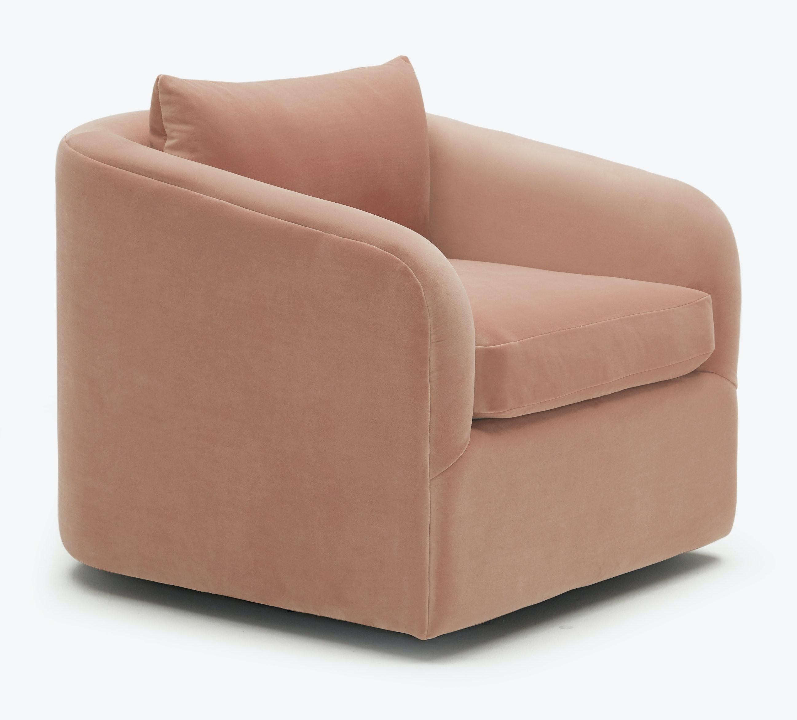 Amelia Swivel Chair Royale Blush