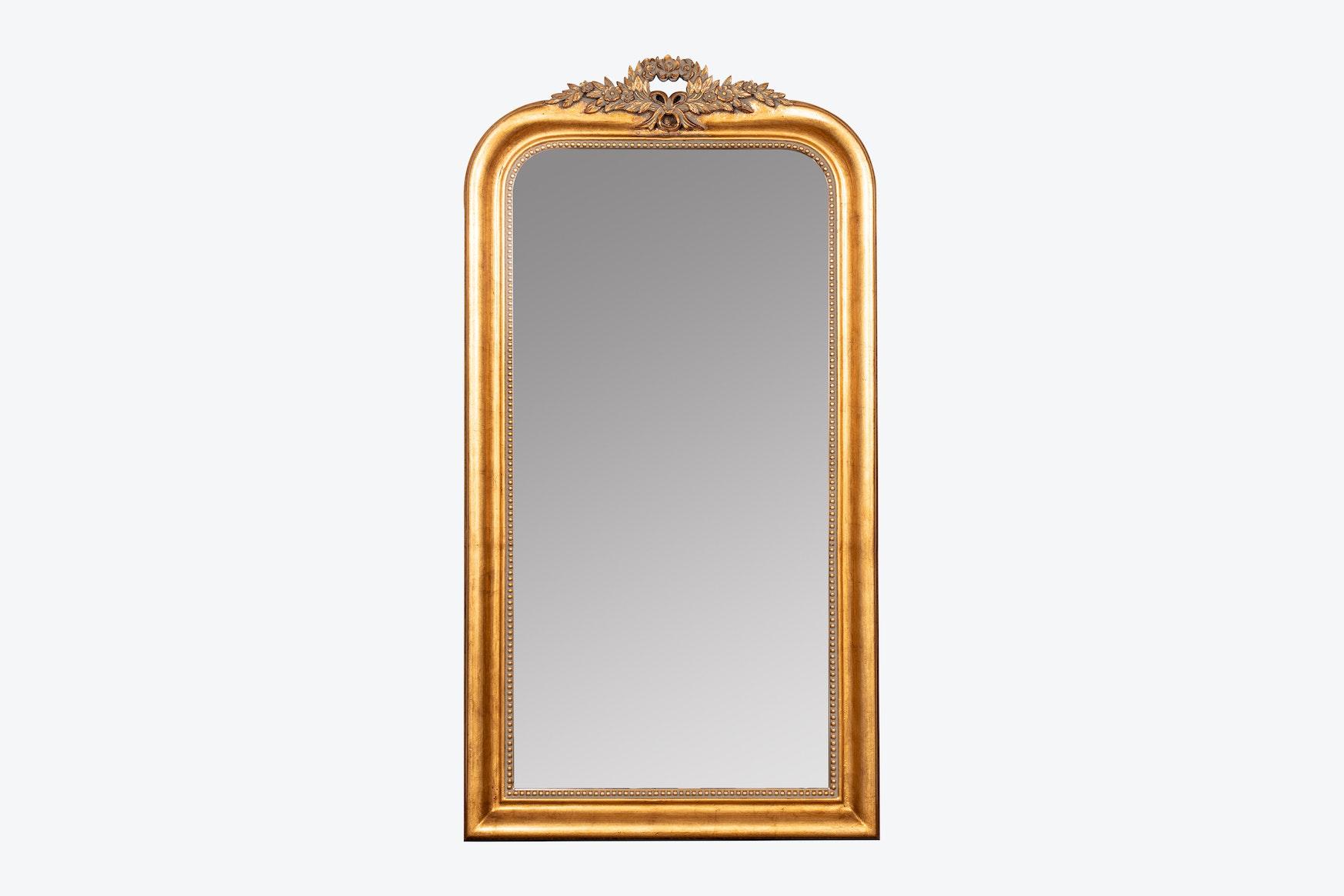 magnolia arched floor mirror