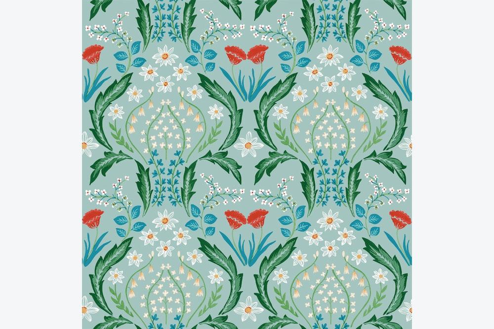 Whimsy Bloom Wallpaper