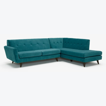 Hughes Sectional with Bumper Antonio Pool