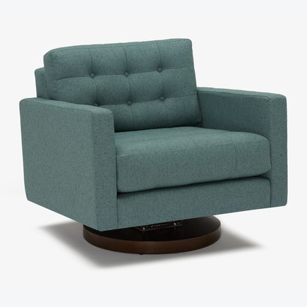 Eliot Swivel Chair Essence Aqua
