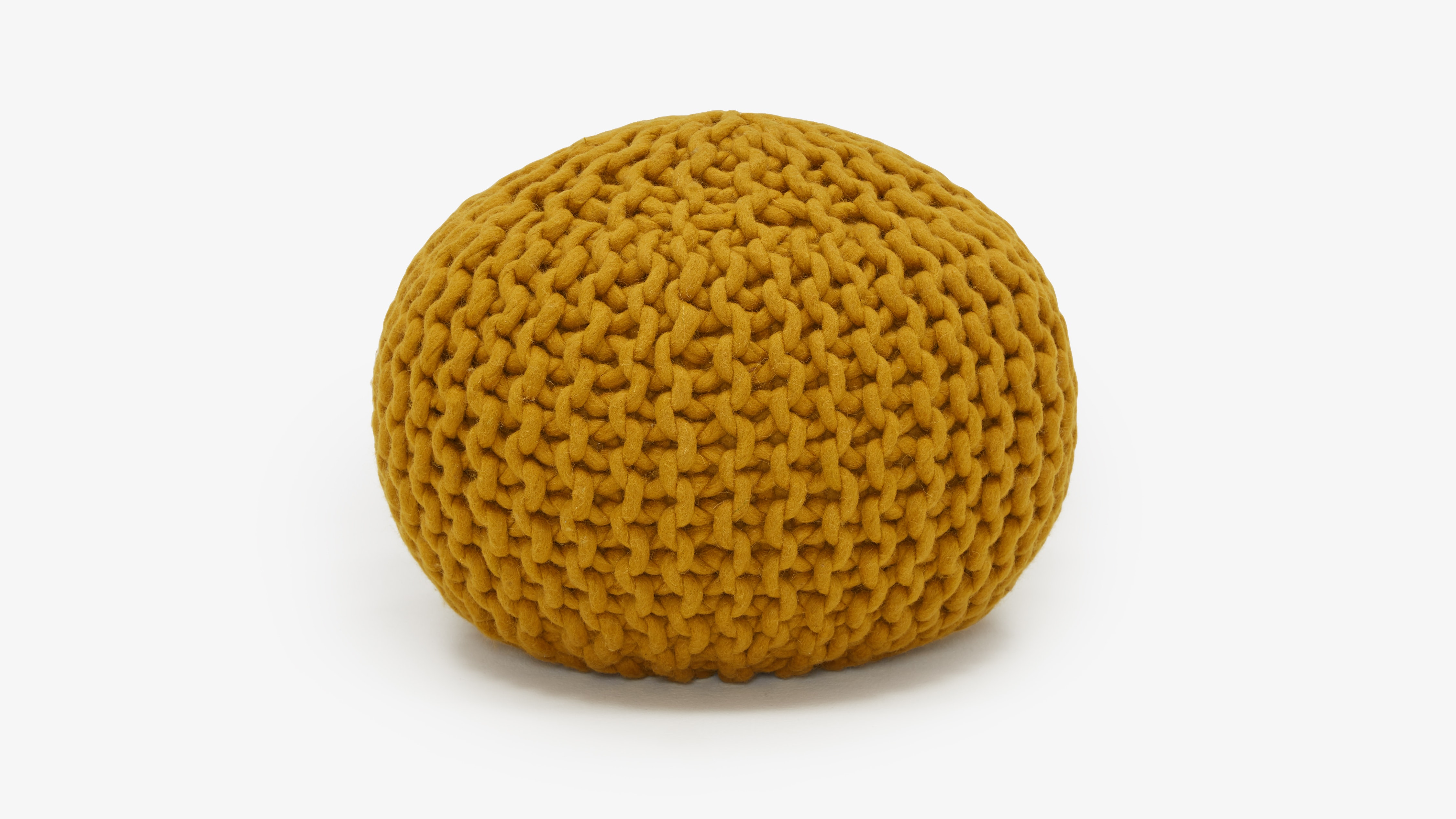 Riley Mustard Yellow Pouf