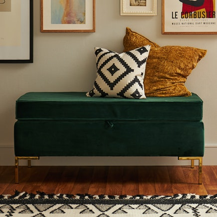 Calm Days Dee Bench With Storage Royale Evergreen PDP