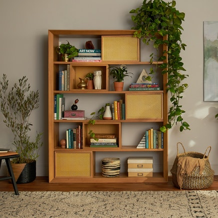 Calm Days Lois Bookcase With Storage PDP